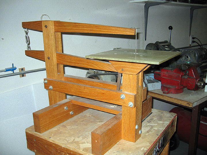 Home Made Scroll Saw http://airfieldmodels.com/faq/fiberglassing_and_finishing.htm