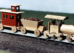 Wooden Model Choo-Choo Train