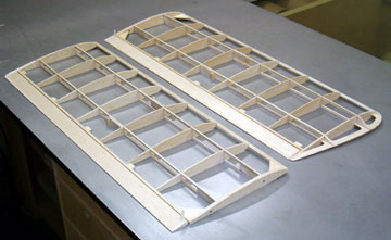 A typical non-sheeted wing that is lightweight and easy to build.